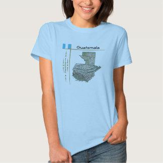 Mapa de Guatemala + Bandera + Camiseta del título
