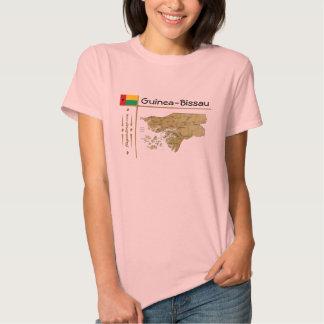 Mapa de Guinea-Bissau + Bandera + Camiseta del