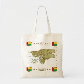 Mapa de Guinea-Bissau + Bolso de las banderas Bolsa