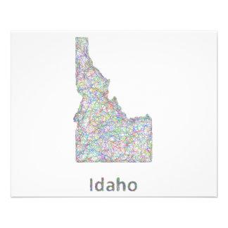Mapa de Idaho Folleto 11,4 X 14,2 Cm