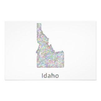 Mapa de Idaho Folleto 14 X 21,6 Cm