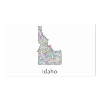 Mapa de Idaho Tarjetas De Visita