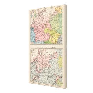 Mapa de idiomas y de religiones en Alemania Lona Envuelta Para Galerías