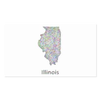 Mapa de Illinois Tarjetas De Visita