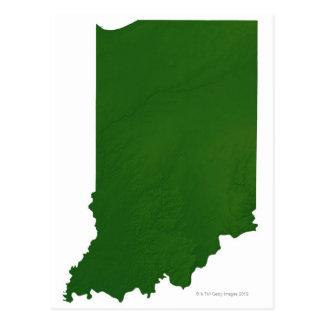 Mapa de Indiana 2 Tarjetas Postales