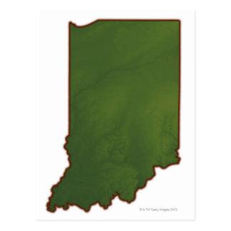 Mapa de Indiana 3 Postal