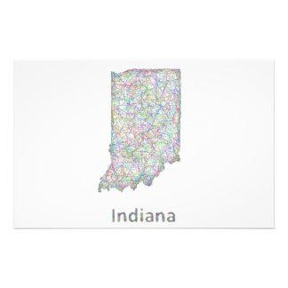 Mapa de Indiana Folleto 14 X 21,6 Cm