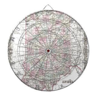 Mapa de Indiana. José Hutchins Colton Tabla Dardos