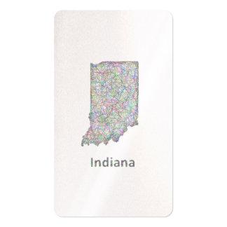 Mapa de Indiana Tarjetas De Visita