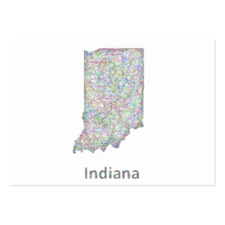 Mapa de Indiana Tarjetas De Visita Grandes