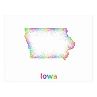 Mapa de Iowa del arco iris Postal