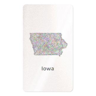 Mapa de Iowa Tarjetas De Visita