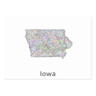 Mapa de Iowa Tarjetas De Visita Grandes
