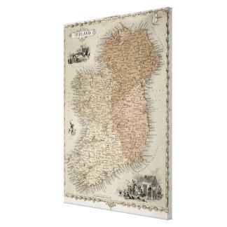 Mapa de Irlanda, c.1850 publicado (en mano-colorea Impresión En Lienzo