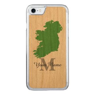 mapa de Irlanda con monograma Funda Para iPhone 7 De Carved