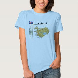 Mapa de Islandia + Bandera + Camiseta del título