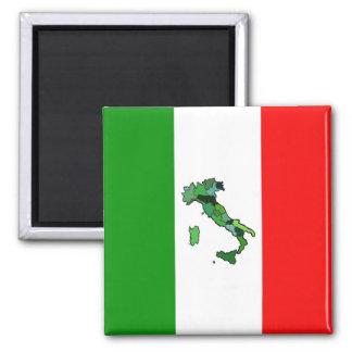 Mapa de Italia y de la bandera italiana Imanes