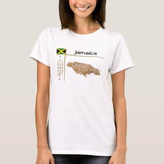 Mapa de Jamaica + Bandera + Camiseta del título