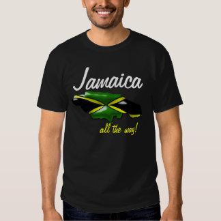 Mapa de Jamaica hasta el final de la camiseta de