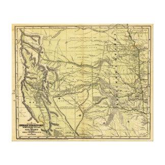 Mapa de Josiah Gregg 1844 del territorio indio Impresion De Lienzo