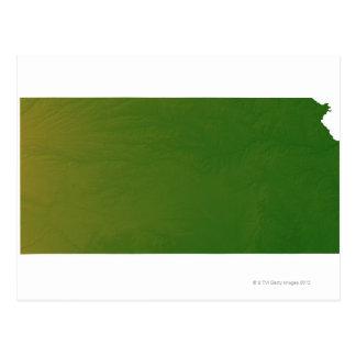 Mapa de Kansas 2 Postal