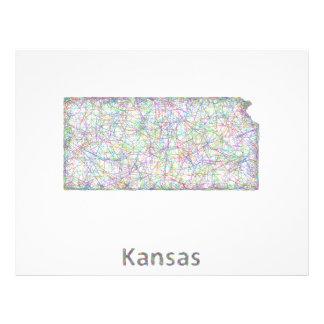 Mapa de Kansas Folleto 21,6 X 28 Cm
