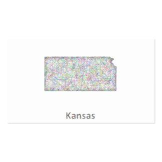 Mapa de Kansas Tarjetas De Visita