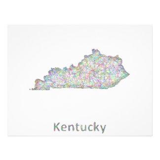 Mapa de Kentucky Folleto 21,6 X 28 Cm