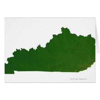 Mapa de Kentucky Tarjeta De Felicitación
