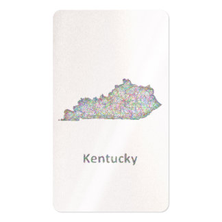 Mapa de Kentucky Tarjetas De Visita