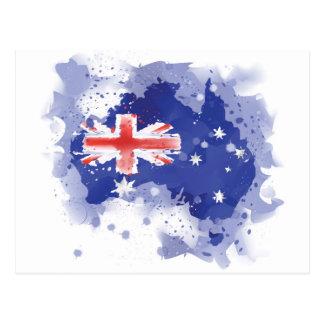 Mapa de la acuarela de Australia Postal