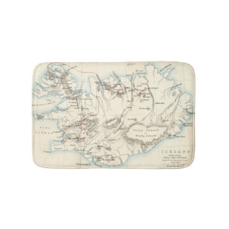 Mapa de la alfombra de baño de Islandia