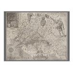Mapa de la antigüedad de la colonia de Virginia de Tarjetas Postales