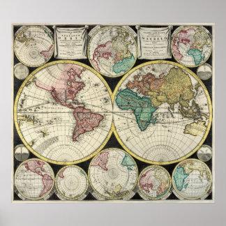 Mapa de la antigüedad de la reproducción del peso  posters