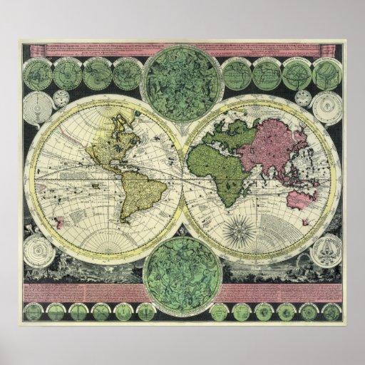 Mapa de la antigüedad de la reproducción del Semi- Poster