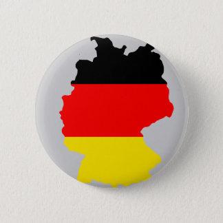 Mapa de la bandera de Alemania Chapa Redonda De 5 Cm