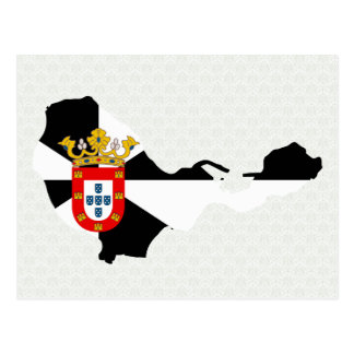 Mapa de la bandera de Ceuta del mismo tamaño Postal