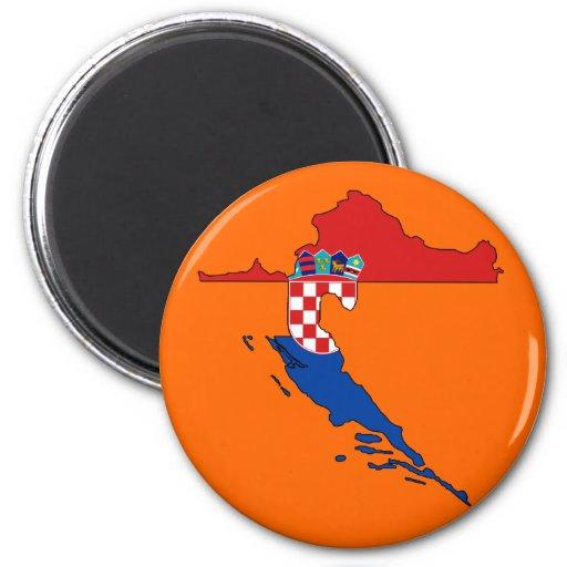 Mapa de la bandera de Croacia Iman De Nevera