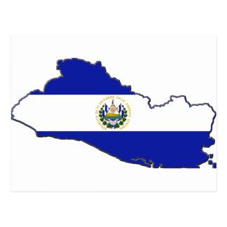 Mapa de la bandera de El Salvador Postales
