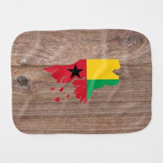 Mapa de la bandera de Guinea-Bissau del equipo en Paños De Bebé