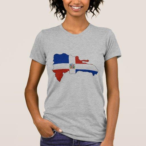 Mapa de la bandera de la República Dominicana Camisetas