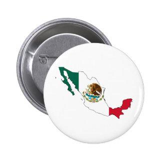 mapa de la bandera de México. la Bandera Nacional Chapa Redonda De 5 Cm