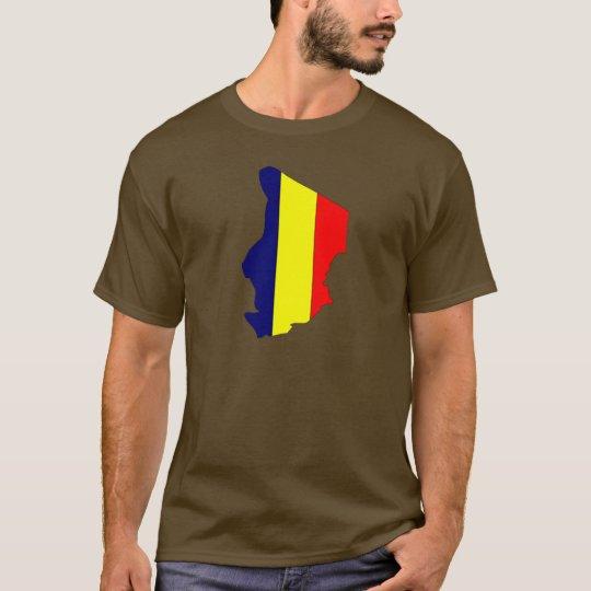Mapa de la bandera de República eo Tchad Camiseta