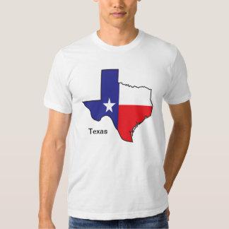 Mapa de la bandera de Tejas Camiseta