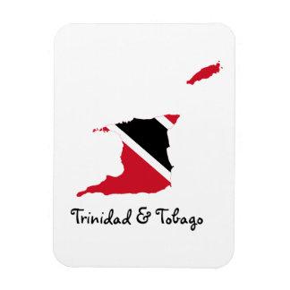 Mapa de la bandera de Trinidad and Tobago Imán Flexible