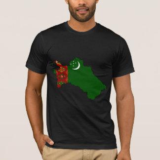 Mapa de la bandera de Turkmenistán del mismo Camiseta