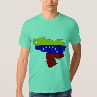 Mapa de la bandera de Venezuela Camiseta