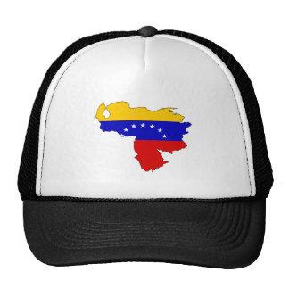 Mapa de la bandera de Venezuela del mismo tamaño Gorros