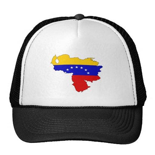 Mapa de la bandera de Venezuela del mismo tamaño Gorra