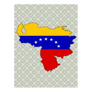 Mapa de la bandera de Venezuela del mismo tamaño Tarjetas Postales